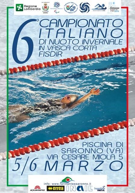 6 Campionato Italiano Nuoto Agonistico Fisdir Piscina