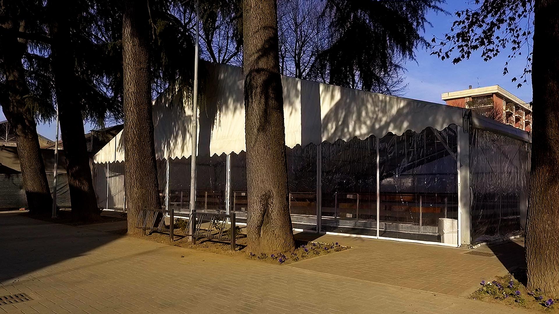 Foto della struttura del Palaghiaccio